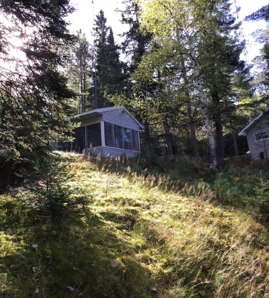 Affordable cottage to get on the ER chain on the Deerskin River w/ a short boat ride to Scattering Rice Lake. Remodeled OC w/knotty pine interior, a mixture of carpet, tile & WF. 2 BR 1 dbl, bunk bed & single, dbl fold out bed and 1 bath. Situated on a peaceful setting. Lrg. kit., DR & LR. Large win.w/ a screen porch w/ views of eagles & otters on the river. Open year round. Cottage sits on both the snowmobile & ATV/UTE trails. Deer hunting just up the hill;Muskies caught off the pier. Owner added 2 patios in front/rear to capture the sunset any time. Wood & pine spiraling staircase down to the boat dock. Cottage comes fully furnished. 90'' of water frontage w/a permanent dock. Property sits on a no wake zone & steep hills block the ER winds. Great investment and has rented for $900 a week