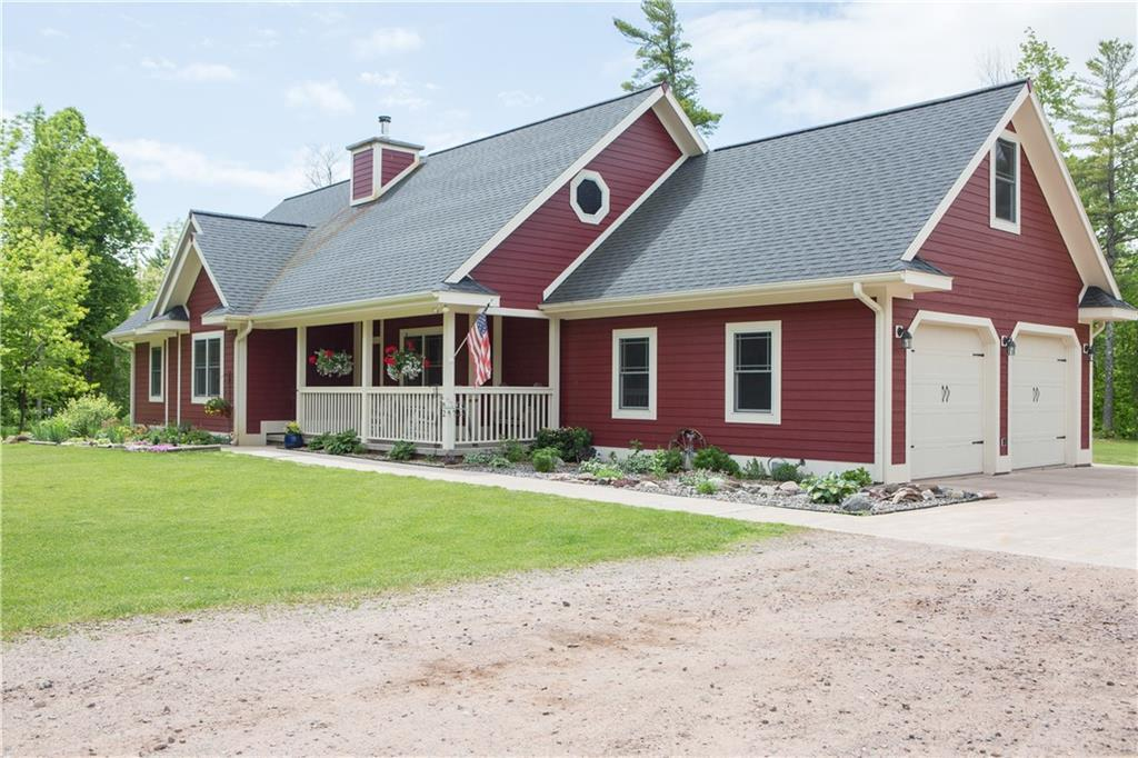 Beautiful custom home nestled in woods on 10 acres is a rare find just 5 miles from the shore of Lake Superior. Custom woodwork & built-ins make this house one-of-a-kind! Main floor has large kitchen & dining room, open living room that looks to the back yard, mudroom w/pantry & closet, 3 bedrooms & 2 full baths. Upstairs has 1 bedroom, 1 full bath & 2 bonus rooms. Finished basement has living room, bedroom, full bath, laundry & mechanical room. Please see attached for full description