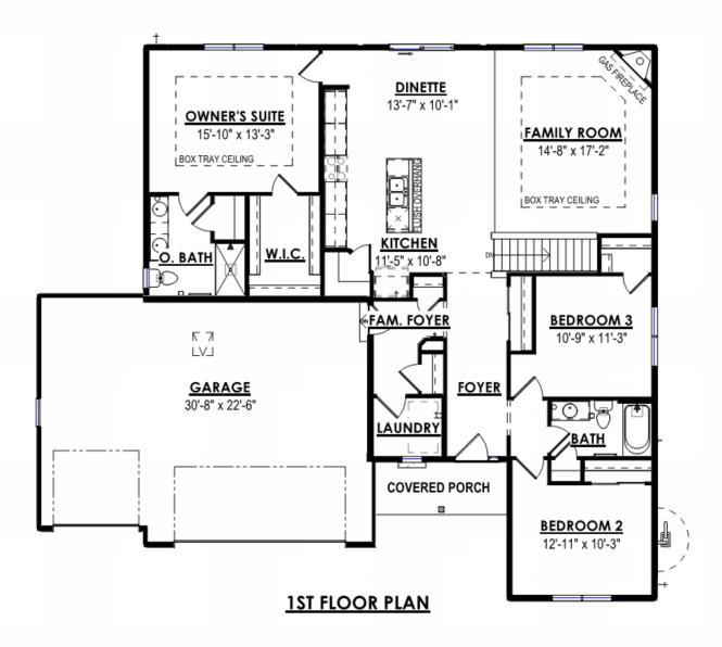 NEW Construction - Ready in October 2019! Our Wingra model is a 3 Bed, 2 BA, split ranch with open concept layout. The Kitchen boast granite countertops, maple cabinets and large island with overhang, great for entertaining and family time. The Great Room has corner gas fireplace with stone detail and box tray ceiling. Mst. Suite includes box tray ceiling, oversize WIC and double vanity. Walk out exposure in the lower level w/ a full bath rough-in for future expanded living space. Don't miss out on the opportunity to see everything this new home has to offer!