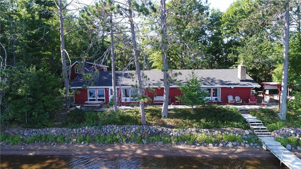Price Lowered on this fantastic one level living home located on Lac Courte Orielles lake.  With 200' of flat level shoreline this lake has  some of the best swimming and fishing that northwest Wisconsin has to offer.  You will be able to sit on the lakeside deck and watch the kids swim all day long.  With the 3 beds and 2 baths in the home there is extra sleeping and recreation space above the garage for the visiting family and friends. Dock & boat lifts are included in this turn key property.