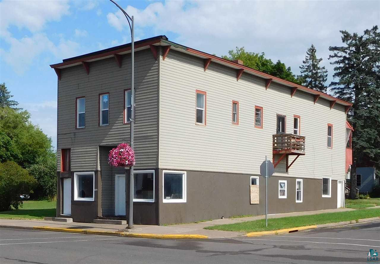 Great location on Ashland's Main Street this multi-purpose building sits on a corner lot just blocks away from Lake Superior.   In need of extensive renovations this property has great potential for apartments.  Looking for an income producing project, or great location to build?  Here's your opportunity!
