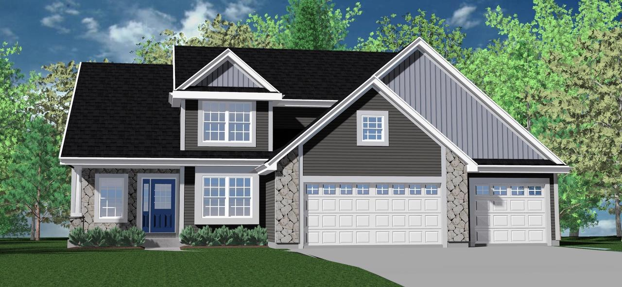 BUILDING PERMITS ARE BEING PULLED.4 bedrooms/2.5 baths/study/2-story. Basement has rough-in drain/vent for future full bath/one egress slider window. Ceramic corner Walk-in shower/2 shower heads/split sinks/granite vanity tops in master bath.  2-WIC's master bedroom. Knockdown drywall with rounded corners. Walls painted one neutral color. Tray ceiling in master bedroom. Staggered kitchen cabinets with cabinet crown moulding/granite countertops/island/pantry closet/stainless steel dishwasher/microwave. Main floor laundry room with drywall lockers/closet/upper cabinets/laundry tub. 3-car garage with openers/remotes/keypad.