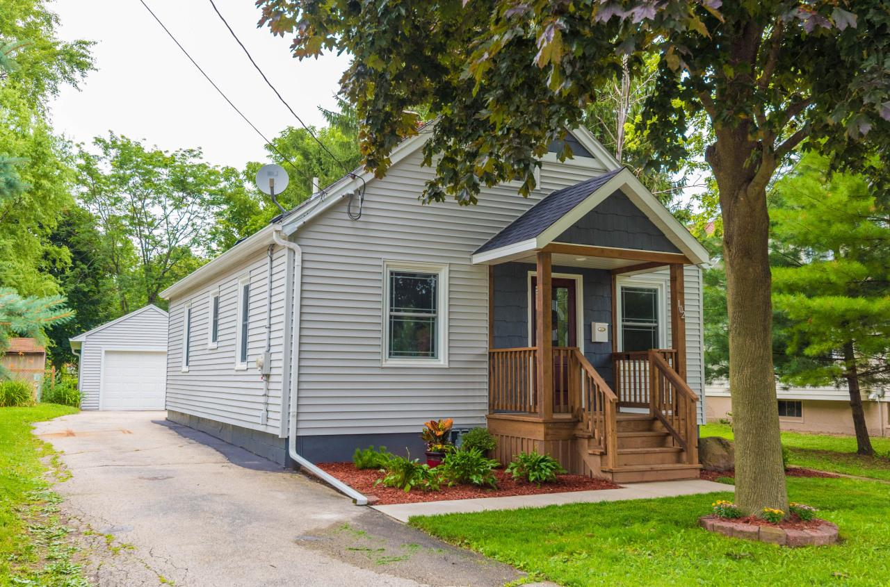 Builder-owned home, beautifully renovated in 2018 & 2019. Original HWFs exposed & refinished. Upper is huge, wide open & finished, could be 3rd BR, study, den, game rm! Home is tasteful, charming, warm & inviting. Newly built front porch, open concept living, dining area. KIT w/new SS appliances, cabinets, countertops, back splash! Main level laundry/mud rm added. Also on the main are 2 BRs that could also serve as office, study area or formal dining area, & new full bath. Great features include new barn-style sliding door, freshly painted on every level, new lighting, fixtures, sinks, faucets, furnace, AC, water heater, newer windows. Basement sealed & painted with wash tub & toilet. Nice deep back yard, rear deck, 1.5 car GA. Many updates!