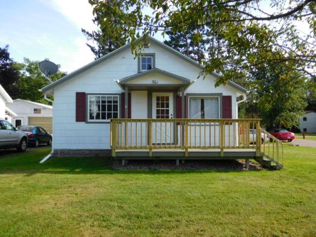 City of Antigo home with 2 bedrooms and 1 bath. Open concept kitchen and living room. Kitchen has eat-in dining area. Nice size living room, 2 bedrooms with hall closets. A deep city lot with 5th Ave in front, side street and a back alley way gives plenty of easy access. A one car attached garage with a breezeway. This property is move in ready and would make a great starter home!!