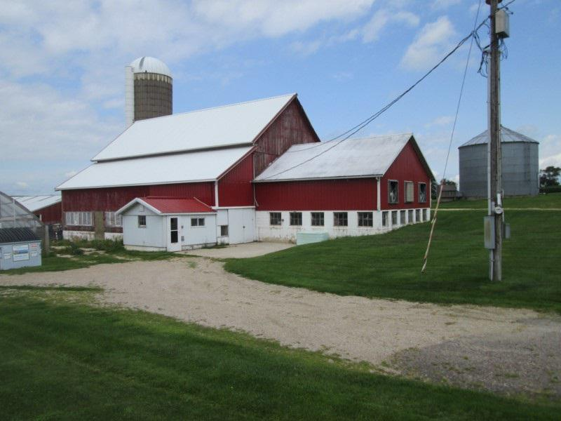 Nice farmette perfect for any type of livestock. Good set of outbuilding including a working 40x60 dairy barn with a 30x30 addition, two livestock sheds one 30x80 with a drive up feed manger and the other 40x70, a 44x88 machine shed, a 20x30 Harvestore grain unit and a 8000 bushel bin. Cute 3 bedroom 1 bath home with a 2 car attached garage and central air. If you have been looking for a place for a few horses or cattle or to milk goats take a look at this very nice homestead today. Great location just south of Lamont.