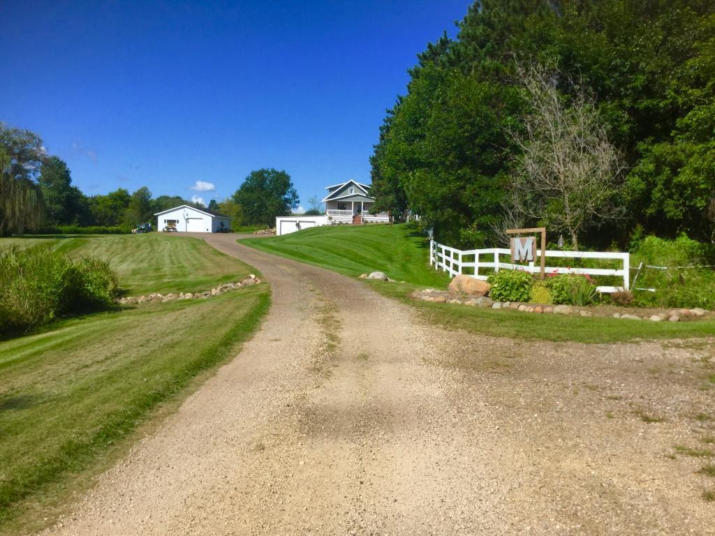 Step back in time in this renovated farm house with the decor that it deserves. All new landscaping, new front porch to enjoy coffee. Patio and bonfire pit area. Unique brick flooring in bathroom. Pole shed, machine shed, and pasture for animals. Large kitchen with farm house sink. Come take a look. You won't be disappointed! There is an additional 40 acres for sale to the north of this property. Not listed.