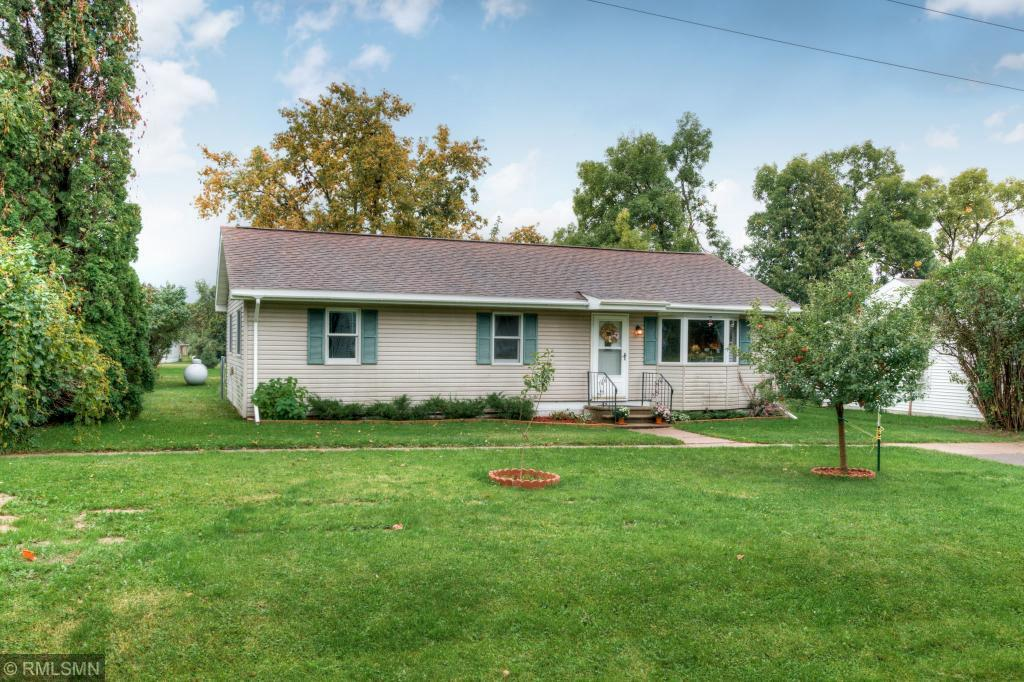Cute and cozy 3 bedroom, 1 bath home, nicely updated. Great location in small neighborhood out in the country.  Patio door leads to nice size deck and full fenced in back yard. 1 car detached garage plus a garden shed to store all your toys. Move in right in and enjoy.