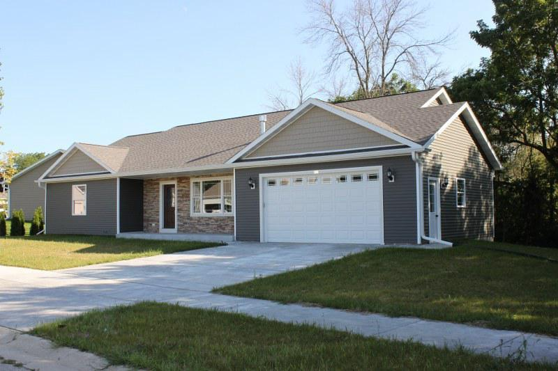 New construction open concept ranch. Vaulted ceilings, 6 panel doors, and maple cabinetry are just a few of the wonderful features. Living room has a gas fireplace. Large Master bedroom suite has a walk in closet and a private bath with a large walk in tiled shower.  Basement has full size windows and is pre plumbed for a third bath. Concrete drive is already installed.