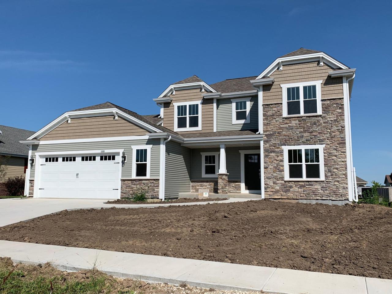 NEW CONSTRUCTION by Stepping Stone homes. $2500 buyer closing cost credit OR credit towards a patio/deck for an accepted offer by 10/31! The Camden offers lots of space in a traditional two story home....but this home is anything but traditional!  You'll find 3 BRs up & a den/office option on the main floor.  Spacious MBR w/private MBA & HUGE walk in closet.  Open concept w/gas fireplace & patio door off dining area.  2x6 exterior framing and amazing upgrades like soft close dovetail cabinetry, quartz and marble counter tops, double sinks in the bathrooms, upgraded flooring, 8 ft GA doors & more! This home comes equipped with Smart Home Technology, including integrated lighting, door locks, ecobee smart thermostat, video doorbell, Lift Master garage door, all of which you can control from