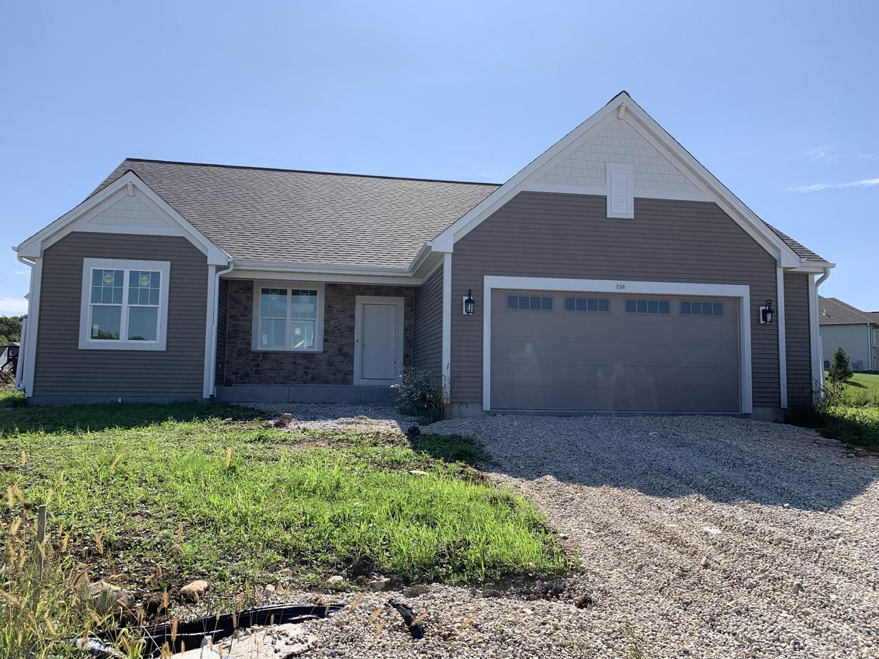 NEW CONSTRUCTION by Stepping Stone Homes. $2500 buyer closing cost credit OR credit towards a patio/deck for an accepted offer by 10/31! This AVERY model is located in Autumn Ridge. Open concept w/full basement including egress window. Superior quality, 2x6 exterior framing, 8 foot garage door, electric fireplace and more! Lots of upgrades like soft close dovetail cabinetry, quartz/marble counter tops, double sinks in  bathrooms, upgraded flooring throughout and so much more. Don't forget about all the Smart Home Technology, including integrated lighting, door locks, ecobee thermostat, video door bell, Lift Master garage door opener, Samsung Connected Touch Screen Family Hub refrigerator, all of which you can control from your phone! Concrete driveway and seeded lawn INCLUDED IN THE PRIC