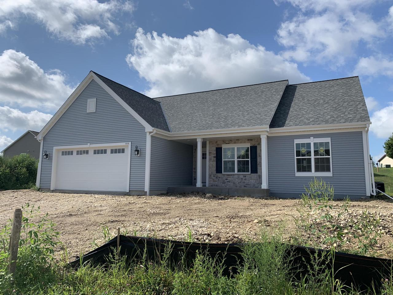 NEW CONSTRUCTION by Stepping Stone Homes. $2500 buyer closing cost credit OR credit towards a patio/deck for an accepted offer by 10/31! The Emery Model in Autumn Ridge  will welcome you w/it's open concept. Superior quality w/2x6 exterior framing,  amazing upgrades like soft close dovetail cabinetry, quartz/marble counter tops, double sinks in bathrooms, upgraded flooring, 8 foot garage doors and more! This home comes equipped with Smart Home Technology, including integrated lighting, door locks, ecobee smart thermostat, video doorbell, Lift Master garage door, all of which you can control from your mobile device! Look inside your refrigerator while you're at the grocery store! Make sure your garage door is closed and the lights are off when you're away. Concrete driveway and seeded lawn!