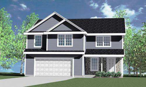 Kaerek Homes over 2400 square foot  Madison III Signature Series 4 brm. 2.5 bath Two Story w/ 2 car attached garage. Open concept, w/L shaped kitchen w/island & corner walk in pantry. Dinette w/ patio door adjacent to large living room w/corner direct vent gas fireplace . First floor mudroom  w/ceramic tile floor.  Large master suite on second floor w/dual basins in vanity,shower module and walk in closet. Second floor laundry base & upper cabinets. three additional bedrooms w/compartmentalized family bath w/dual basin vanity . three linen closets on second floor. Brm. #3 has window seat & walk in closet. 2 x 6 sidewall, partial stone on front elevation, vinyl siding w/aluminum trim,gutters,fascia,soffits. Active Radon Abtmt., rough in for future bath in bsmt. Egress window w/area well.